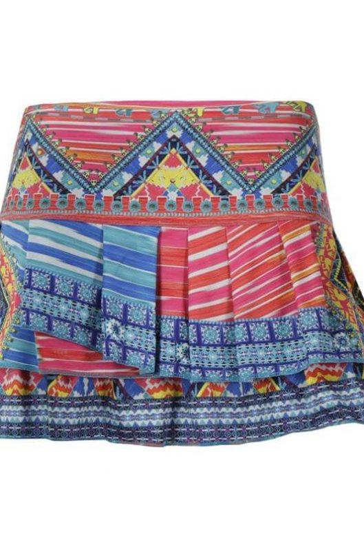 Lucky in Love Boho Chic Pleat Tier Skirt
